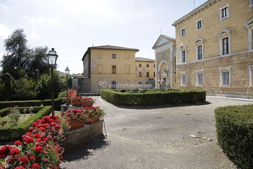 Villa chigi saracini - Giardino all italiana ...