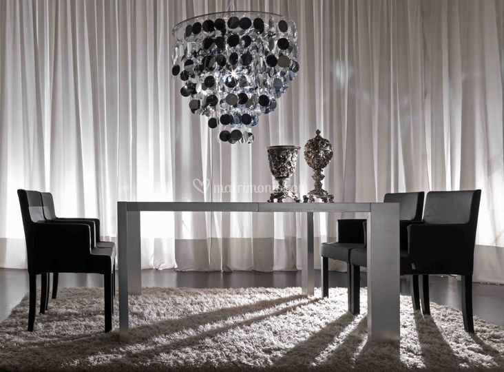 Linea goldfinger cromo di adriana lohmann lighting design for Noleggio arredi bologna