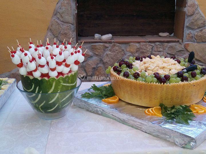 Particolari  buffet antipasti