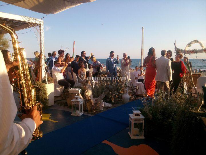 Cerimonia in spiaggia