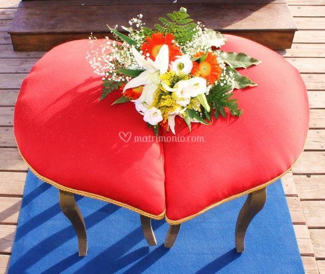 Seduta per gli sposi