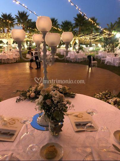 Vista dal tavolo degli sposi