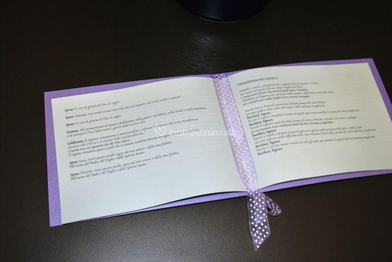 Libretto messa interno
