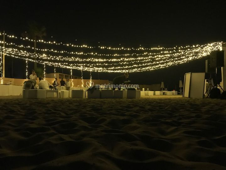 Montaggio su sabbia