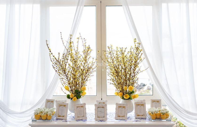 Tableau de mariage (yellow)