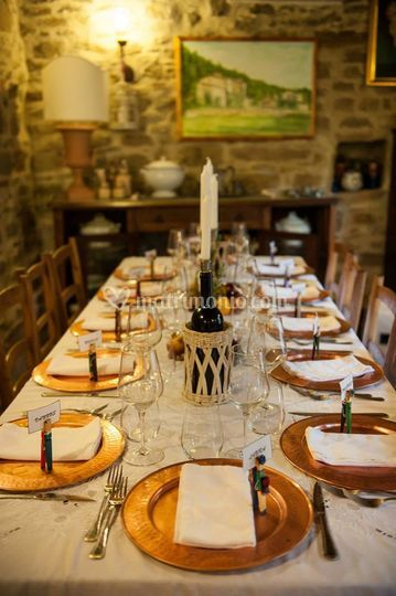 Mise en place all'interno