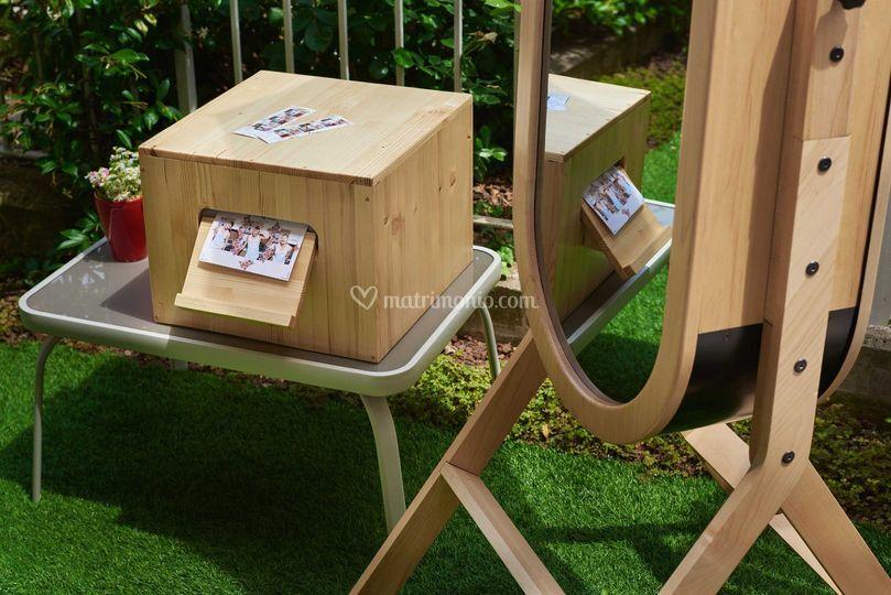 Photobooth matrimonio di legno