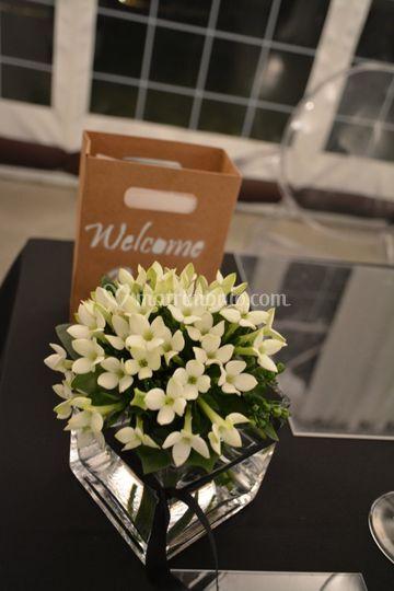 Centrotavola Flower e Welcome