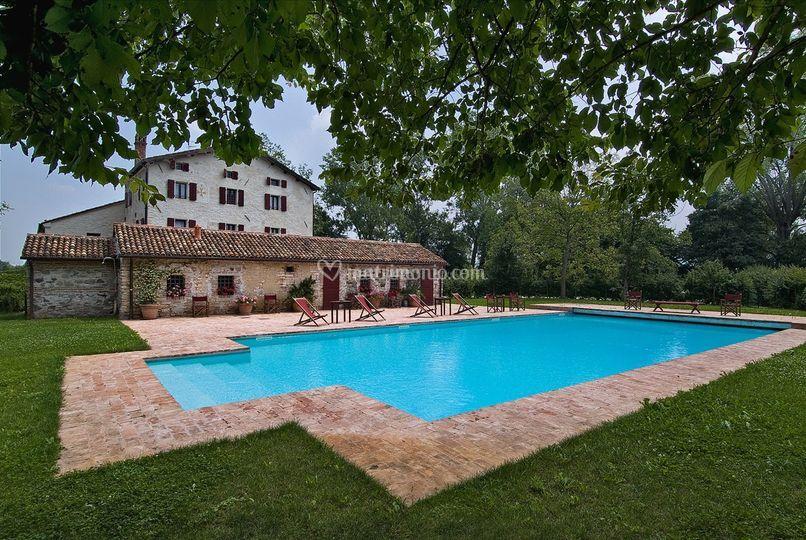La piscina 16m x 8m