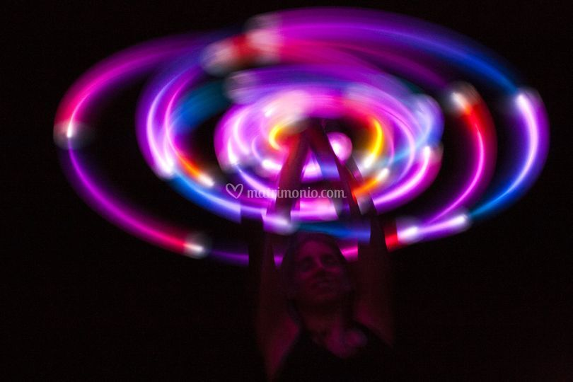 Light painting luci LED