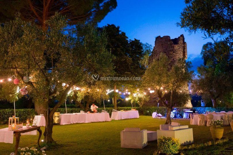 I giardini della torre for Allestimento giardino matrimonio