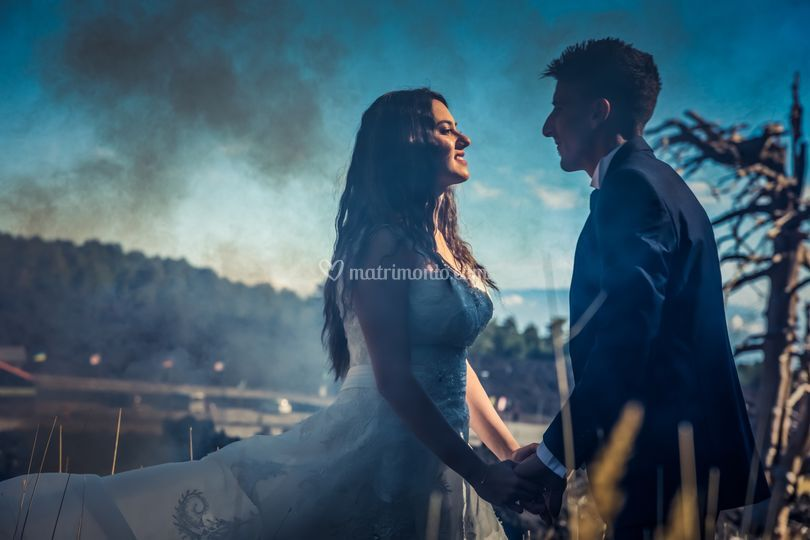Moment of wedding