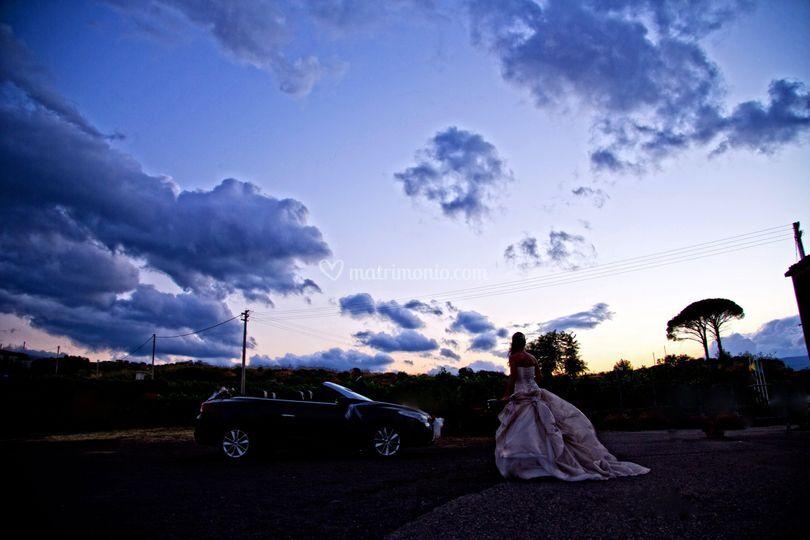 Sunset of wedding