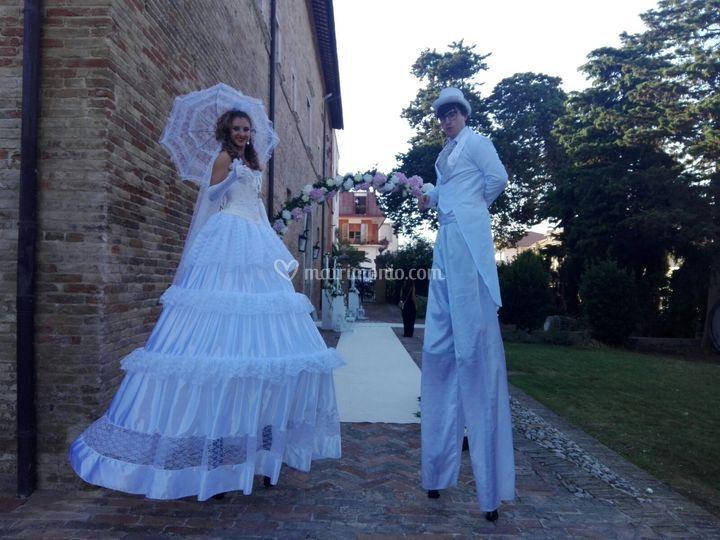 Trampoli sposi