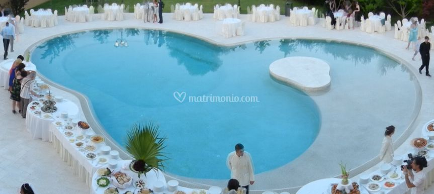 Buffei in piscina
