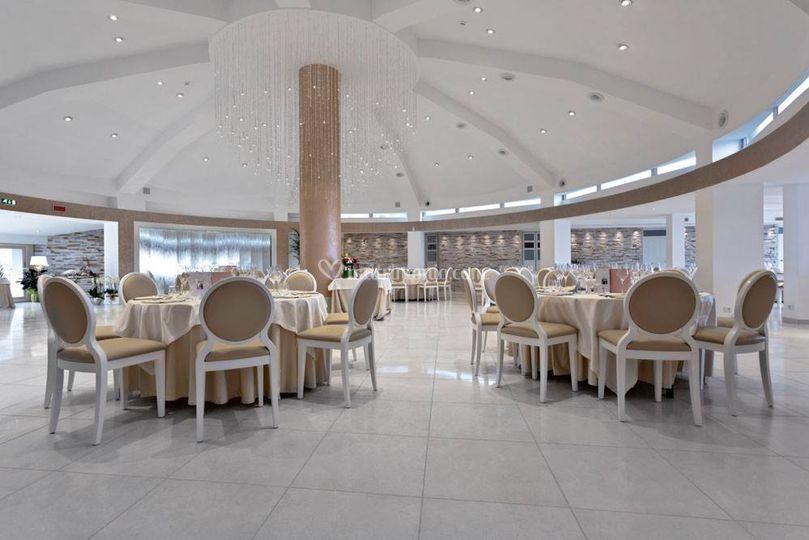 La splendida sala cerimonie