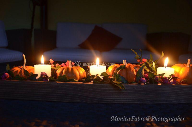 Zucche ornamentali nella notte