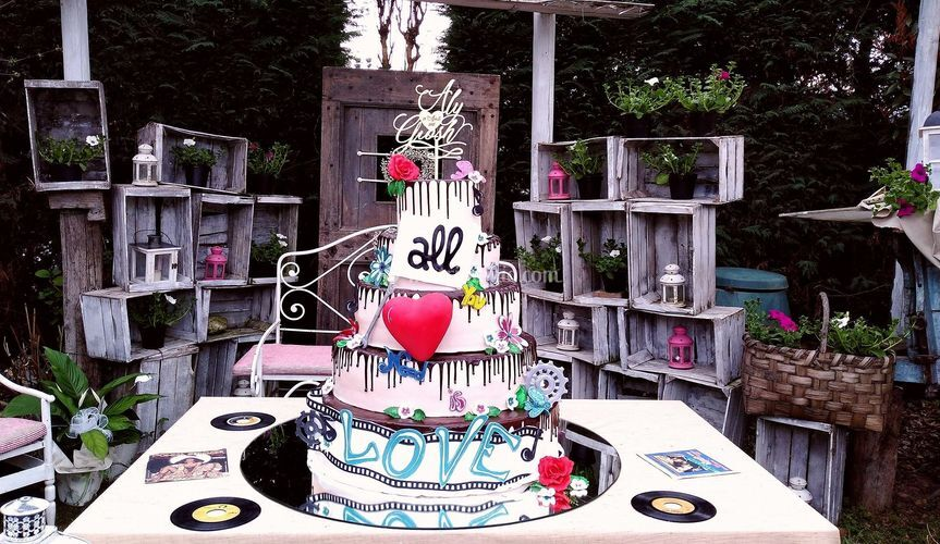 Wedding Hippie Cake