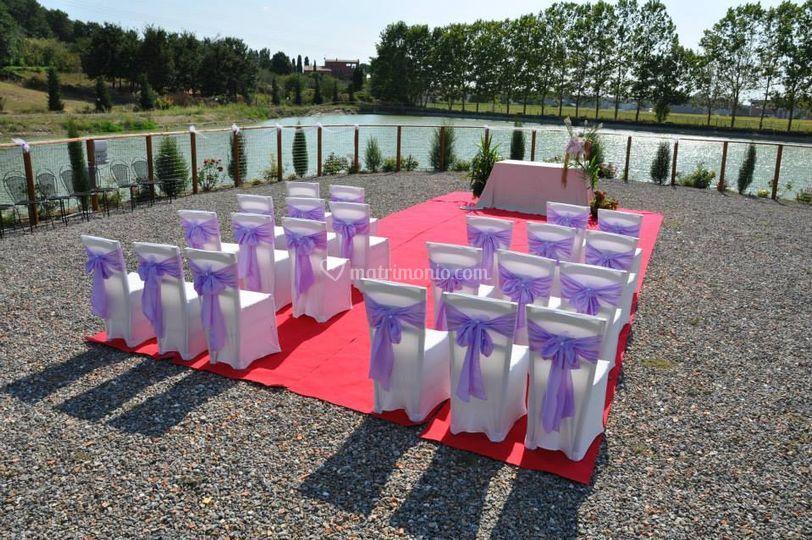Cerimonia fronte lago