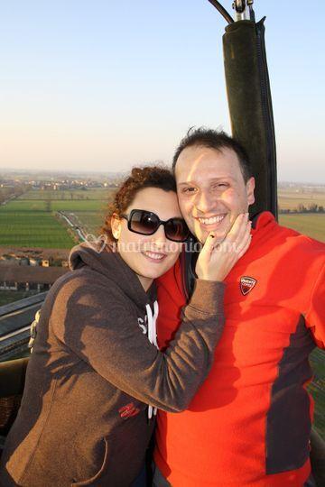 Romantico volo di coppia