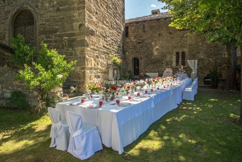 Allestimento di Chateau La Tour de Villa