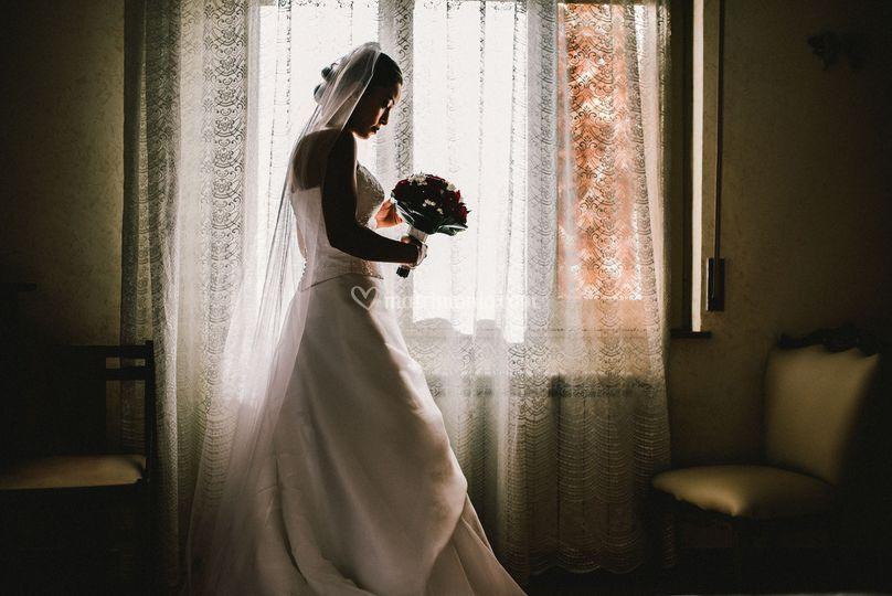 Sposa in controluce