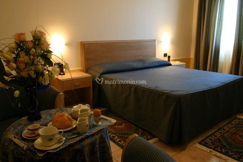 Le camere per gli ospiti