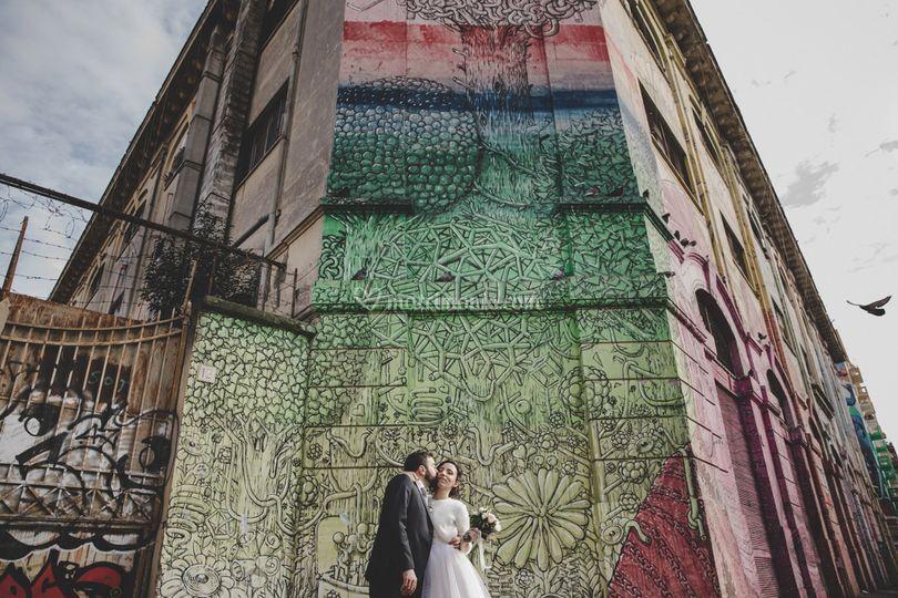 Ritratto sposi murales