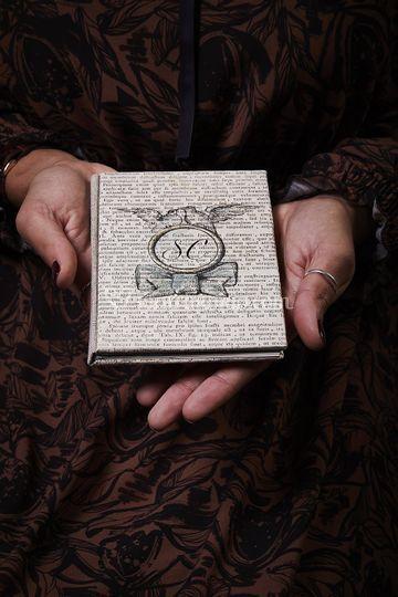 Bomboniera in carta antica