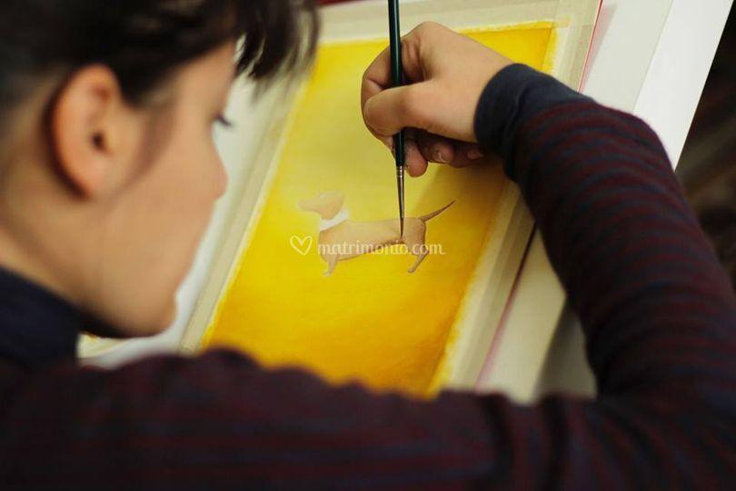Irene dipinge