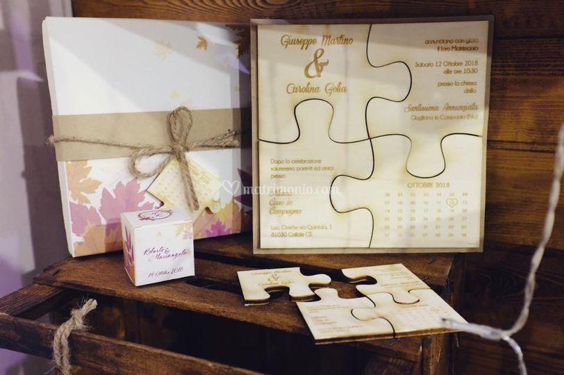 Invito nozze puzzle