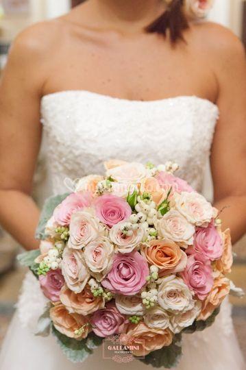 Bouquet rose pastello