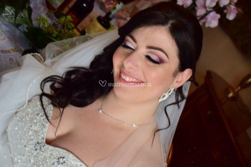 Sposa con i toni del rosa