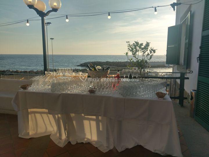 Tavolo beverage terrazza