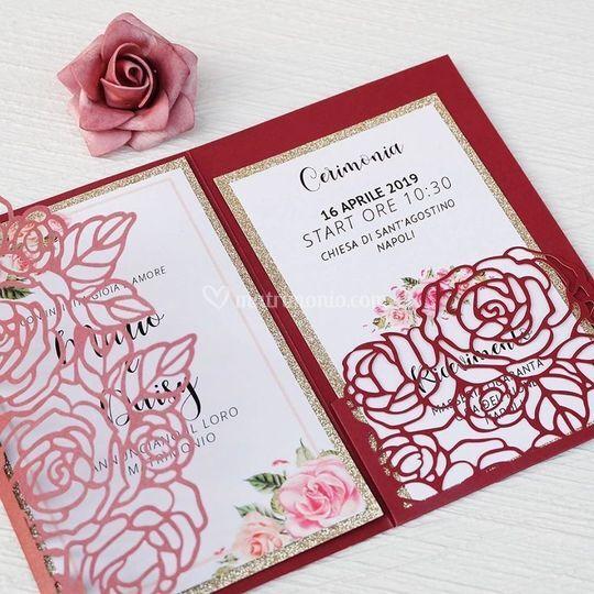 Invito borgogna rose