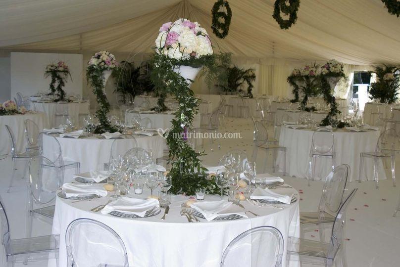 Allestimento floreale e scenografico cerimonia e ricevimento