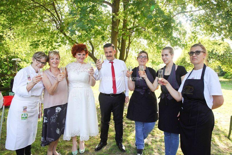 Gli sposi e lo staff