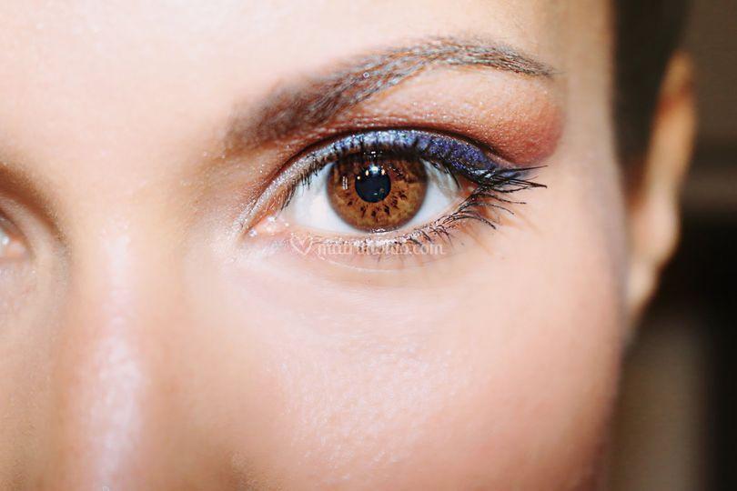 Makeup occhi brown/blu