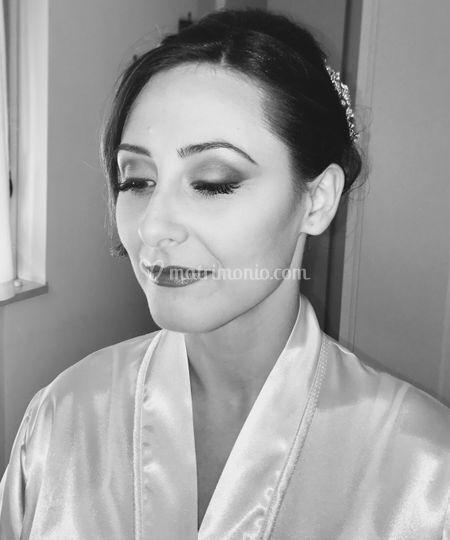 Trucco sposa bianco e nero