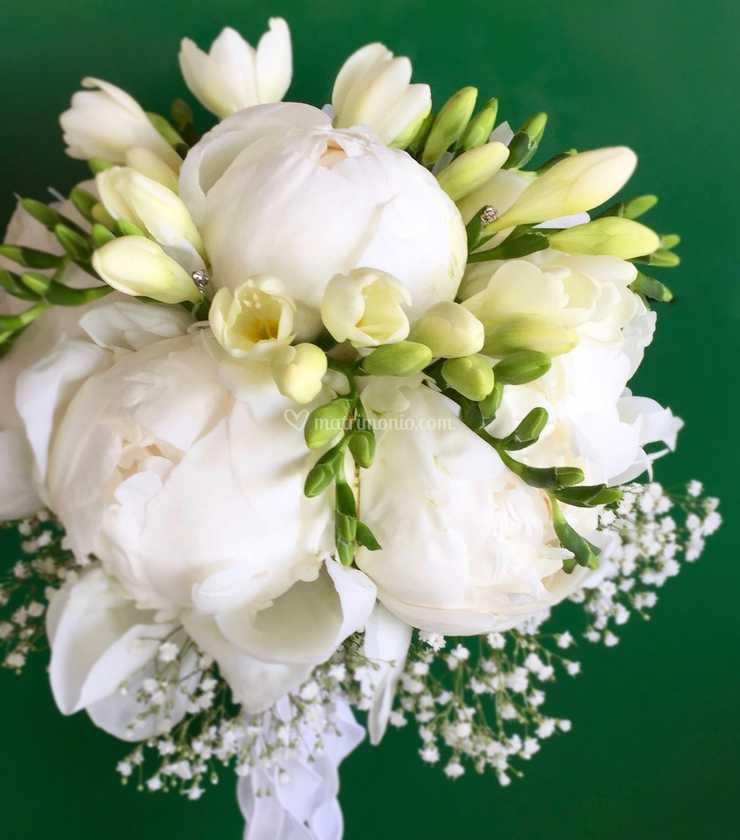 Bouquet Sposa Fresie.Bouquet Sposa Peonie E Fresie Di Arte Flora Foto 17