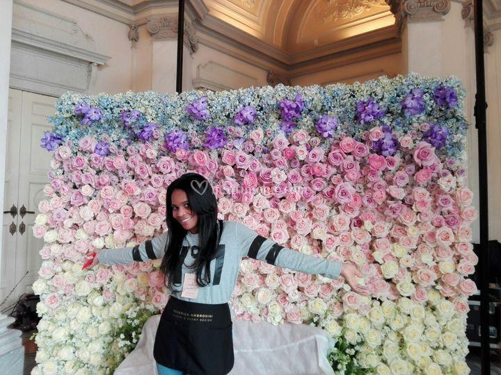 Flower wall xmasterclass