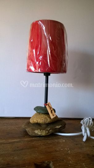 Lampada base in pietra