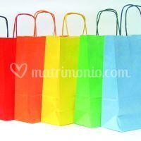 Sacchetti carta colorati