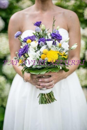 Matrimonio Fiori Azzurri : Bouquet di papaveri azzurri foto