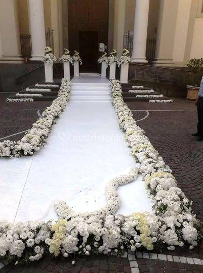 Bordo tappeto con fiori