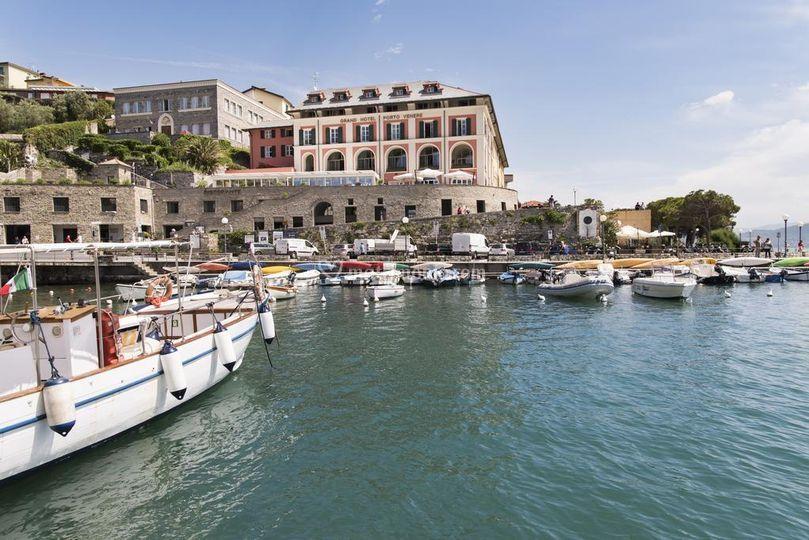 Il Grand Hotel dal mare