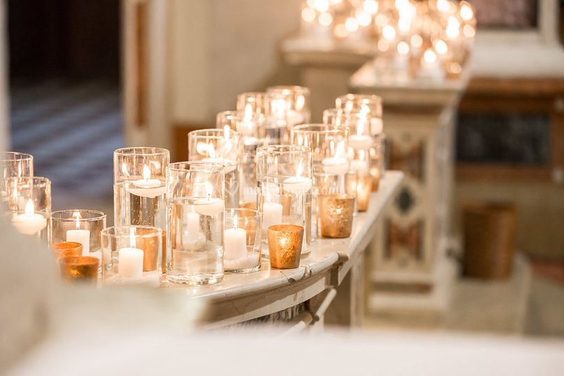 Balaustre chiesa candele