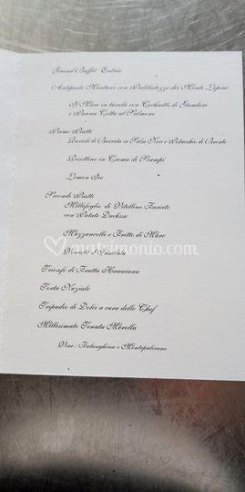 Wedding menù