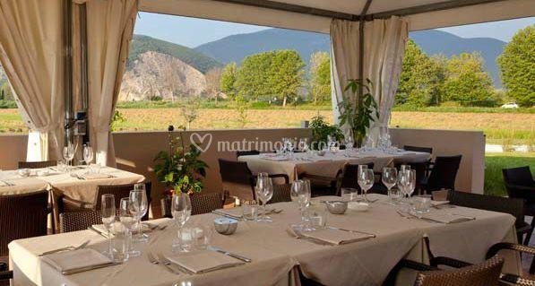 Sala da pranzo sulla terrazza