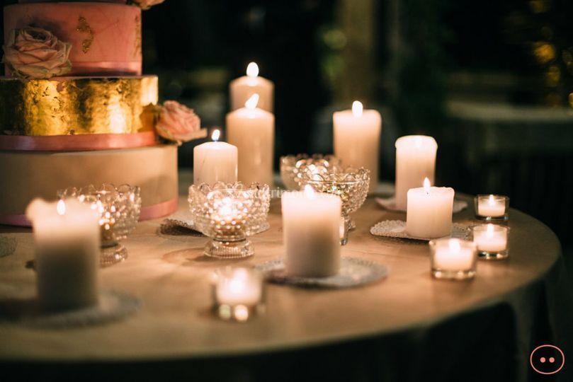Wedding Cake e candele